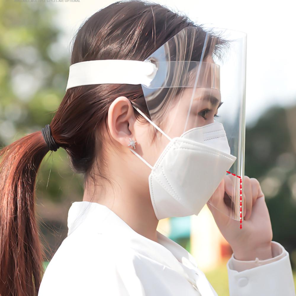 Anti-fog Protective Mask Splash-proof Face Mask Safety Clear Grinding Face Shield Screen Mask Visor Eye Protection Folding Visor
