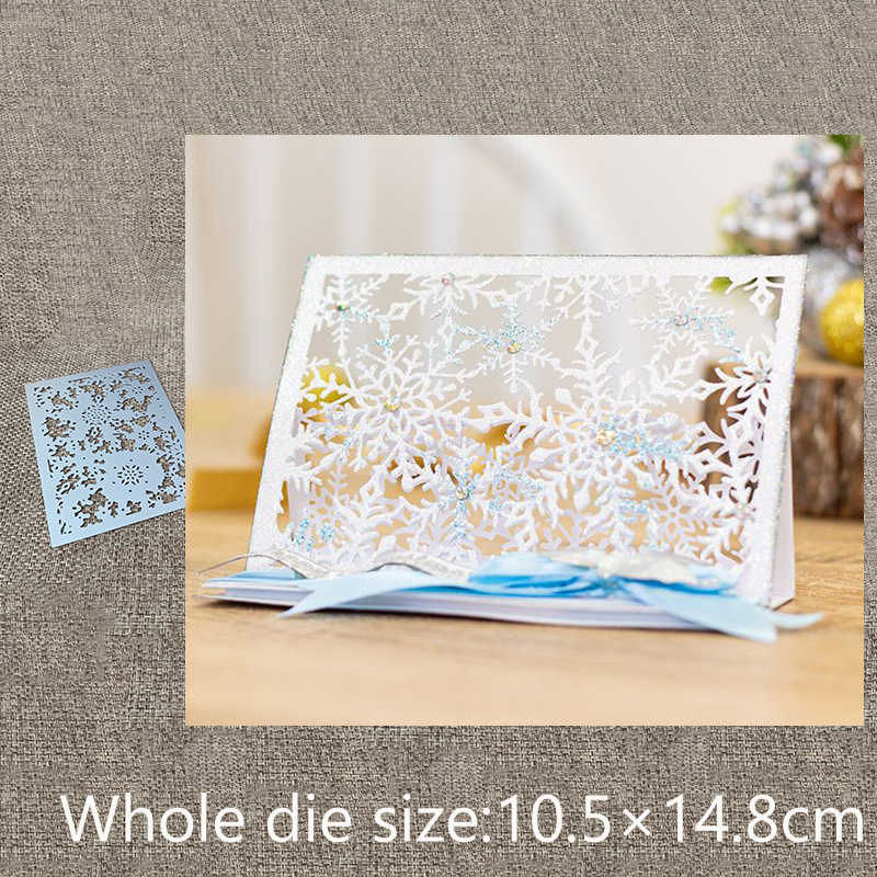 New Design Craft Metal Cutting Die Edgeless snowflake rectangle background scrapbook Album Paper Card Craft Embossing die cuts