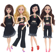 4 Pcs/Set Fashion Doll Accessories Daily Casual Outfits Blouses Skirt Coat Pants Jeans  Clothes For 30cm 1/6