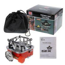 цена на Mini Camping Stove Folding Outdoor Gas Stove Portable Picnic Split Cooker Burner