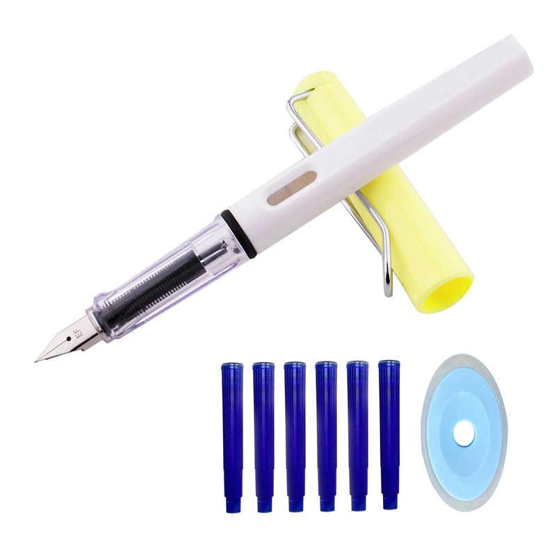 8 ชิ้น/ล็อตErasableน้ำพุปากกาหมึกSacชุด 0.5 มม.สีฟ้าKawaii Erasableปากกาสำหรับเด็กStylo Plumeอุปกรณ์โรงเรียนปากกาประดิษฐ์ตัวอักษร