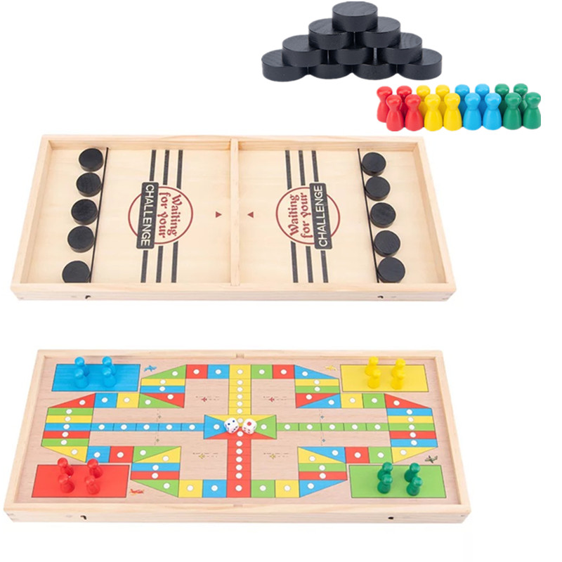 Table Ice Hockey Battle Fast Sling Puck Slingpuck Game Catapult Chess Board Games Desktop Battle 2 In 1 Ice Hockey Game