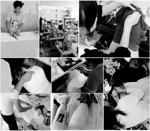 Image 5 - Vestidos de festa de sereia, branco wendding, mangas compridas, 2019 couture, decote em v, tule, miçangas, cristais, vestidos de baile