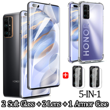 5-IN-1 lens case ,soft glass for 30pro hydrogel film honor 30 pro+ honor30 Pro huawei Honor-30