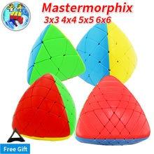 Sengso shengshou 3x3x3 mastermorphix 3x3 4x4 5x5 6x6 megamorphix 4x4x4 arroz bolinho sem cola cubo mágico velocidade