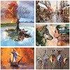 DIY Digital Oil Painting 40 * 50cm Scenery Animal Digital Coloring Digital Painted Hot Selling Digital Oil Painting