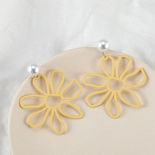 Korean New Arrival Sweet Crystal Holiday Flower Stud Earrings for Women Fashion Elegant  Party Gifts