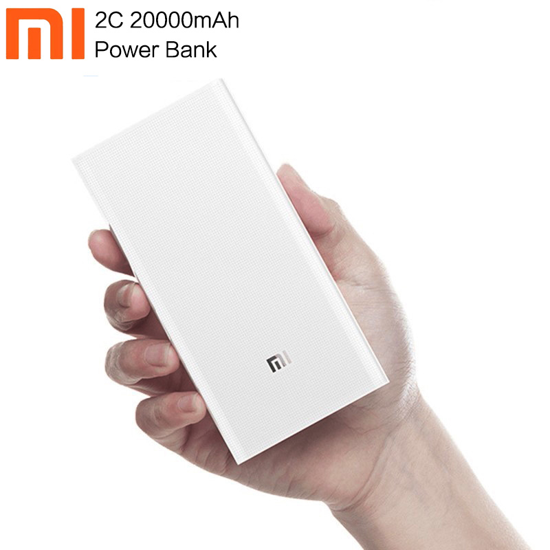 Xiaom <font><b>Mi</b></font> <font><b>2C</b></font> QC3.0 Power Bank 20000 MAh Mobile Portable <font><b>Powerbank</b></font> 2 Dual USB Output Two-way Fast Charge Polymer For Mobile Phone image