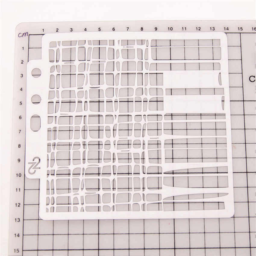 Background grid Cover template Stencils Cake spray mold pattern Scrapbooking DIY