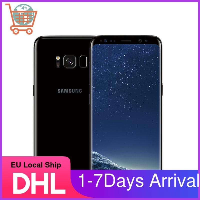 "Desbloqueado samsung galaxy s8 4g lte telefone móvel g950 snapdragon 835 5.8 ""64gb 2960x1440 android octa core impressão digital smartphones"