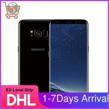 Разблокированный смартфон Samsung GALAXY S8, 4G LTE, телефон с экраном 835 дюйма, Восьмиядерный процессор Snapdragon 5,8, 64 ГБ, 2960x1440, Android, сканер отпечатков пал...