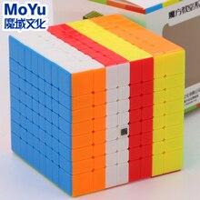 Quebra cabeça cubo mágico moyu cubing sala de aula mofang jiaoshi mf8 meilong 8x8x8 velocidade profissional cube8x8 brinquedo educativo jogo de torção