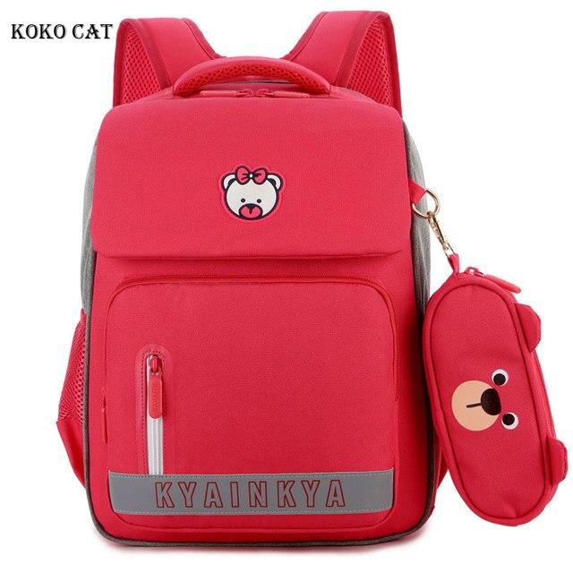 소년 소녀를위한 정형 외과 satchel 배낭 어린이 초등학교 가방 어린이 경량 대용량 bookbags mochila infantil