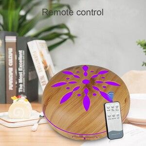 Image 3 - 500ml חשמלי ארומה חיוני שמן מפזר עץ אולטרסאונד אוויר אדים מגניב ערפל יצרנית LEDLight Fogger ארומתרפיה עבור בית