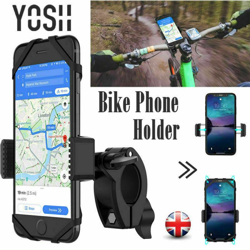YOSH Motor Bike Universal Phone Holder Cycling Mount Bicycle Handlebar MTB 360 For iPhone 6 7