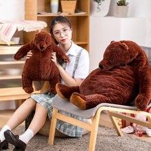 55/100 см Огромный коричневый медведь плюшевые игрушки милый