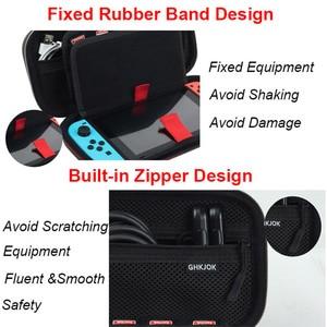 Image 3 - Housses pour à fermeture éclair à coque rigide Portable interrupteur EVA sacs de rangement de transport de protection pour Console NS accessoires cartes de jeu