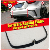 1 Pair Car Black ABS Rear Bumper Splitter Spoilers Canard for Mercedes for Benz W176 A200 A250 A45 for Amg 2013 16 Free shopping