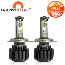 CNSUNNYLIGHT Kit de faros de coche, LED H4 Hi/Lo H7 H11 9005 9006, 80W, 8000lm, 6000K, bombillas de iluminación para coche, luces automotrices de 12V 24V, color blanco