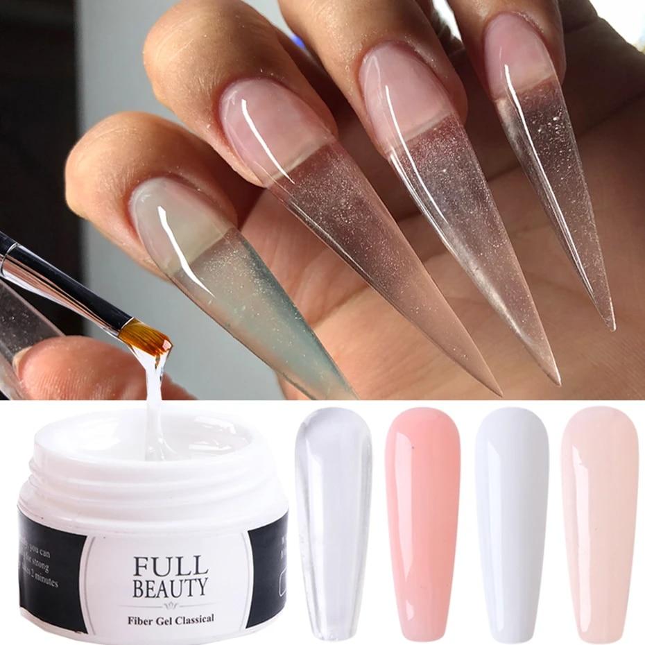 15ml Acrylic Gel For Nail Extension Tips Quick Building UV Builder Gel  Repair Broken Finger Prolong Form Manicure Tools TR1623 1 Nail Gel  -  AliExpress