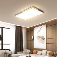 Mdwell modernas luzes de teto led para sala estar quarto estudo conduziu a lâmpada do teto retângulo/quadrado branco/verde/cinza cor