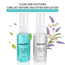 1 Bottle Pre & After Waxing Treatment Spray Liquid 30ml Hair Removal Tool Cleanser Set Waxing Sprayer Kit Smooth Body