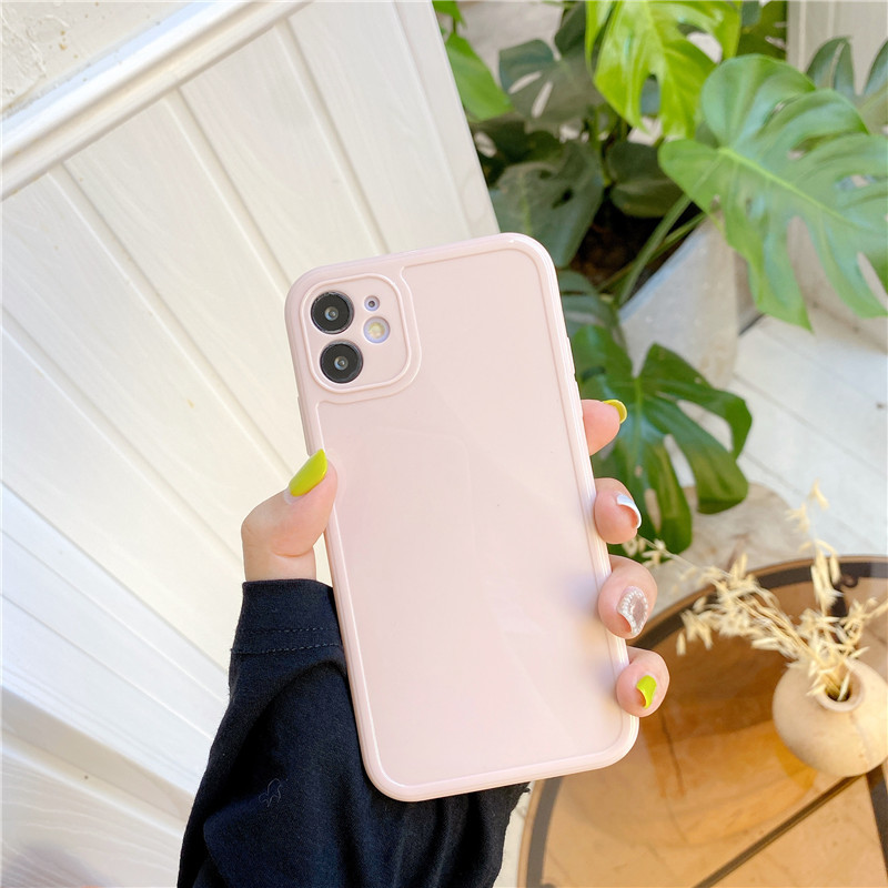Candy Colors Phone Case For iPhone 11 Pro Max 7 8 Plus X XR XS Max Three-dimensional Square Frame Shockproof Back Cover Coque