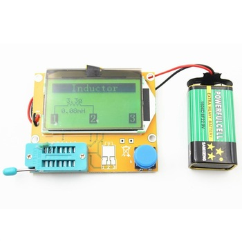 Transistor Tester Digital V2.68 ESR-T4 Diode Triode Capacitance MOS/PNP/NPN LCR LCD Screen Tester 10pcs transistor double base diode 2n2646 on mot mos field effect to 18 to 39