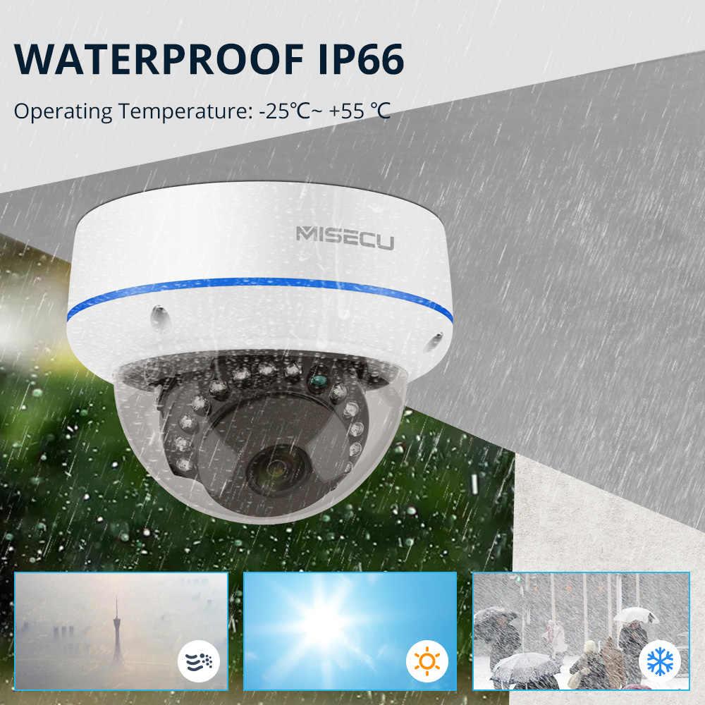 MISECU 4CH 8CH 1080P POE NVR Kitกล้องH.265CCTVในร่มเสียงบันทึกIPกล้องโดมP2Pวิดีโอการเฝ้าระวังชุด
