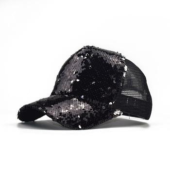 Niska cena klasyczne męskie i damskie czapki outdoor flip cekiny czapki z siatki letnie przebarwienia czapka przeciwsłoneczna street Hip hop sun hat tanie i dobre opinie Kobiety WOMEN Na co dzień Stałe Regulowany Czapki z daszkiem