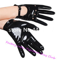 Sexy Black Latex Rubber Gloves for Lady Club Wear for Catsuits accessary medieval