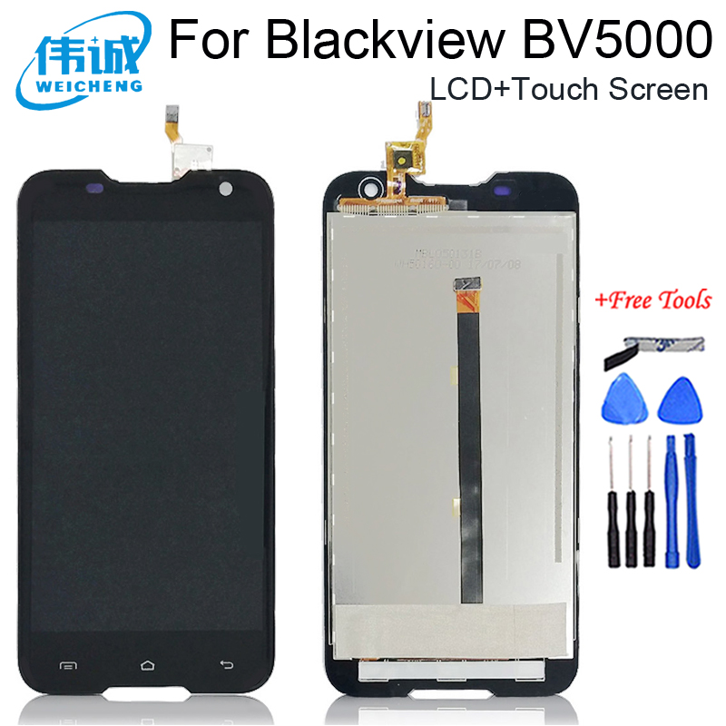 WEICHENG 100% Tested Well  Blackview BV5000 LCD Display + Touch Screen 1280X720 5.0inch Assembly For Blackview BV5000+Free Tools|assembly tools|screen touch|tools display - title=