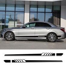 Bande latérale pour voiture, autocollants, pour Mercedes Benz W205 W204 W203 classe C C180 C200 C300 C63 Coupe C43