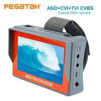4.3 inch 5MP CCTV Camera Tester AHD Tester monitor TVI CVI CVBS portable CCTV tester Monitor Support UTP PTZ tester cameras