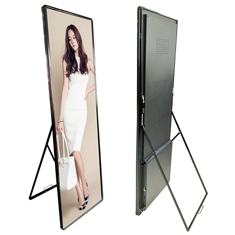 Moveable LED Display LED Poster Screen P2.5 Outdoor Floor Stand