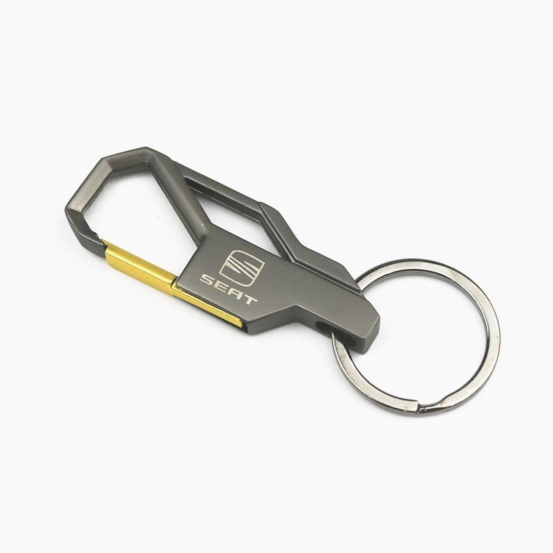 3D Car Keychain Metal Key Holder Logo Car Fashion For Seat Leon Ibiza Cupra Altea Belt Key Chain Ring Accessories