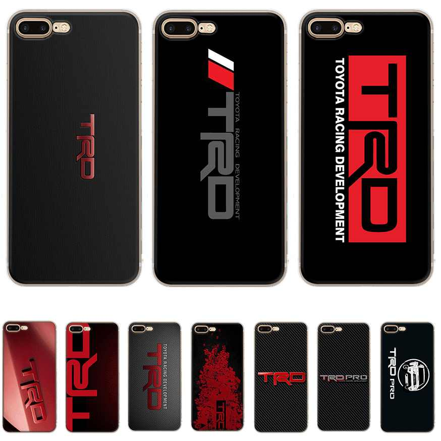 Mobile Phone Case For Iphone X XS Max XR 6 6S 7 8 Plus 5 5S SE Hard Cover Car Logo TRD Toyota Racing Shell Protection