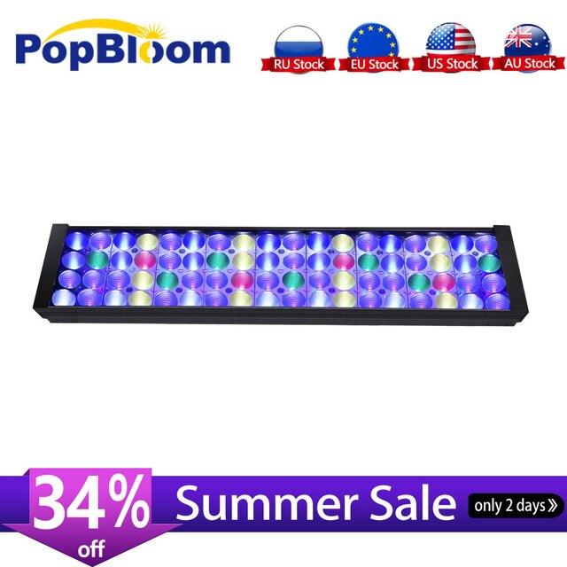 """PopBloom lumière LED lampe daquarium récif de corail Marine aquarium lumière led ing pour 2ft /24 """"/60cm réservoir lever du soleil coucher du soleil MJ4BP1"""