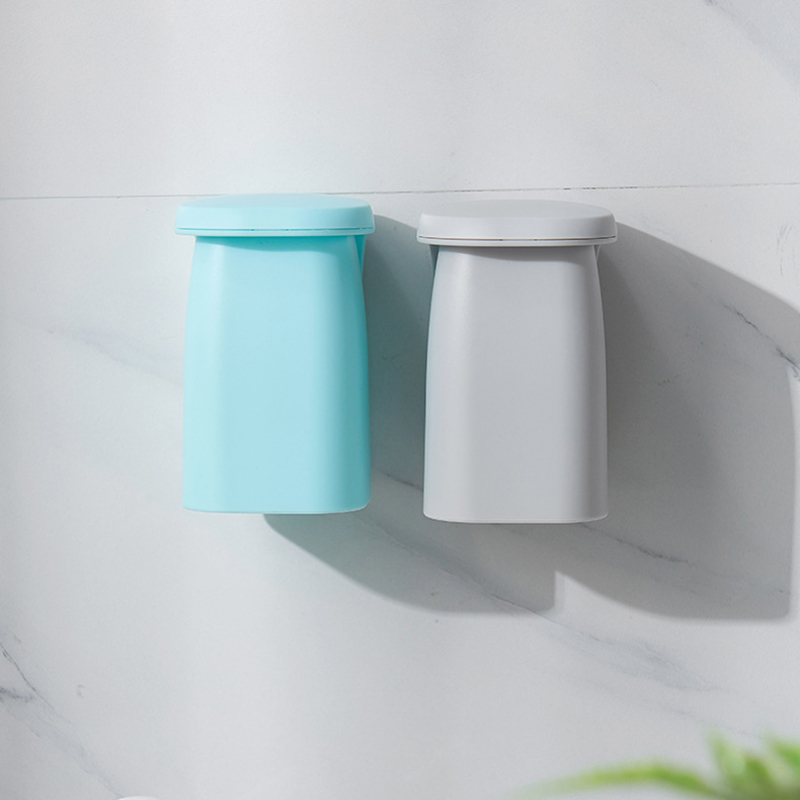 Bathroom Magnetic Suction Mouthwash Cup Wall-mounted Plastic Drain Shelf Holder Tooth Brushing Cups Household B1