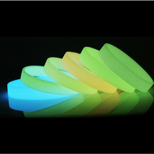 Silicone Luminous Rubber Sweat Band Men Women Bangles Basketball Sports Wristbands Silicone Bracelets 8 Colors(China)