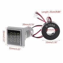 Mini 22 millimetri LED Digitale A Doppio Display Voltmetro Amperometro Meter Tester di Tensione di Corrente AC 60-500V 0-100A Display gauge All'ingrosso