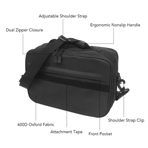 Image 4 - Fishing Tackle Bag Water Resistant oxford fabric Fishing Storage Bag Crossbody Shoulder Bag Handbag with Removable Dividers