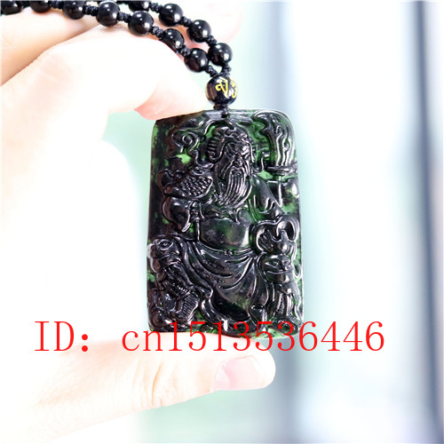 100/% Natural black green jade hollow double happiness jade pendant