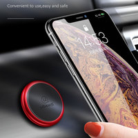 USAMS Magnetic Car Phone Holder Stand for IPhone Samsung Huawei Xiaomi Round Magnet Mobile Phone Clamp Mount GPS Support Car Holder