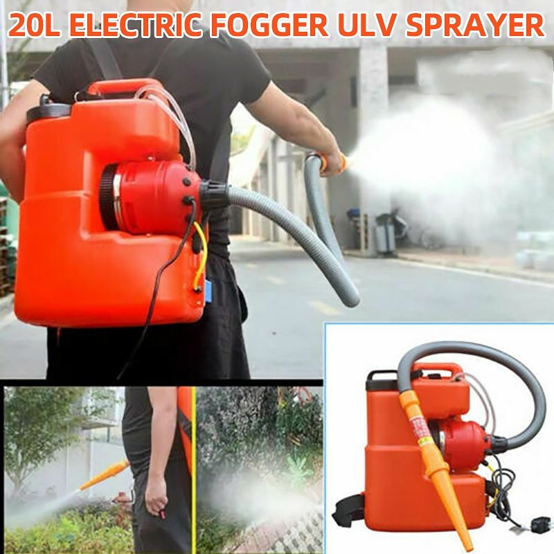 220V 20L 2600W Electric Fogger ULV Sprayer Machine Disinfection Sterilizat Mosquito Large Area Killer Farming Office Industrial