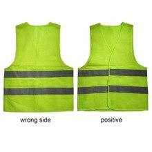 XL XXL XXXL светоотражающий флуоресцентный жилет желтого и оранжевого цвета, одежда для безопасности на открытом воздухе, для бега, проветривается, безопасная, высокая видимость