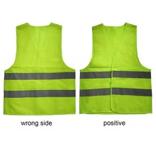 XL XXL XXXL Reflective Fluorescent Vest Yellow Orange Color Outdoor Safety Clothing Running Ventilate Safe High Visibility sfvest men s fluorescent yellow orange construction hi vis vest safety reflective vest with zipper logo printing free shipping