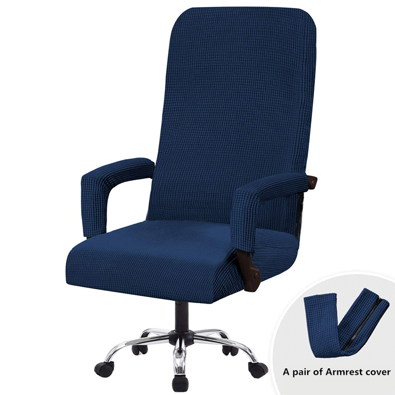 Office Solid Chair Covers Anti-dirty Computer Chair Cover Removable Slipcovers