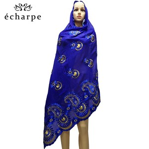 Image 1 - Latest African Women 100% Cotton Scarf Muslim Women Hijab Scarfs Big size Cotton Scarf for Shawls Pray shawls
