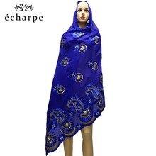 Mais recente mulheres africanas 100% algodão cachecol muçulmano mulheres hijab scarfs tamanho grande cachecol de algodão para xales orar xales